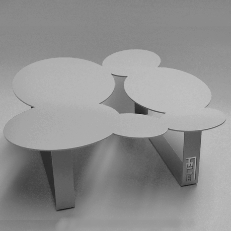Table de jardin ou de salon en métal : design original