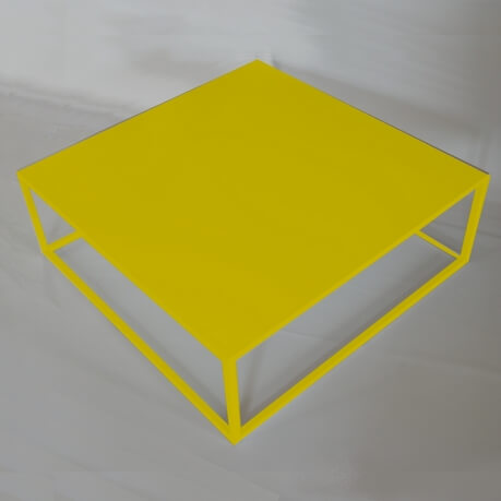 Table basse carr e style industriel fell itc for Table exterieur jaune