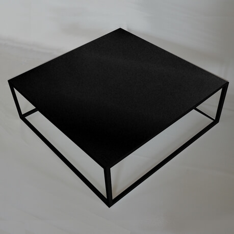 Table basse carr e style industriel fell itc for Table basse noire design