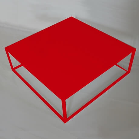 Table basse carr e style industriel fell itc - Table basse design rouge ...