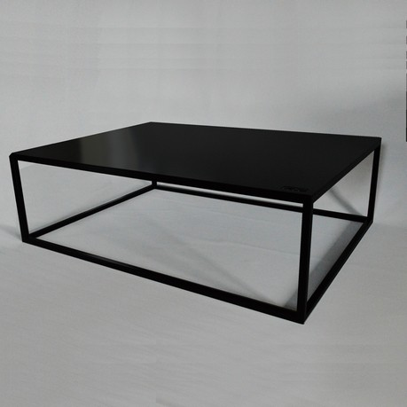Table basse industrielle pour int rieur ou ext rieur - Table basse noire design ...