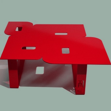 Table basse de salon so seventies pour int rieur ou ext rieur - Table basse design rouge ...
