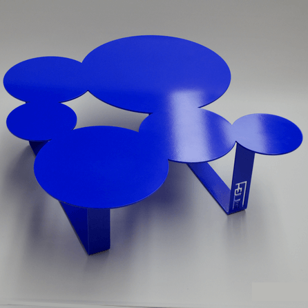 Design coffee table Inside blue