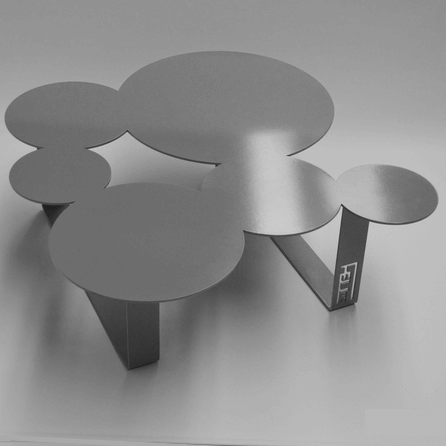 Design coffee table Inside grey