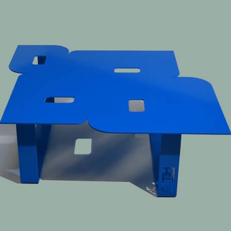 Modern coffee table so seventies blue