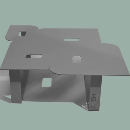 Modern coffee table so seventies grey