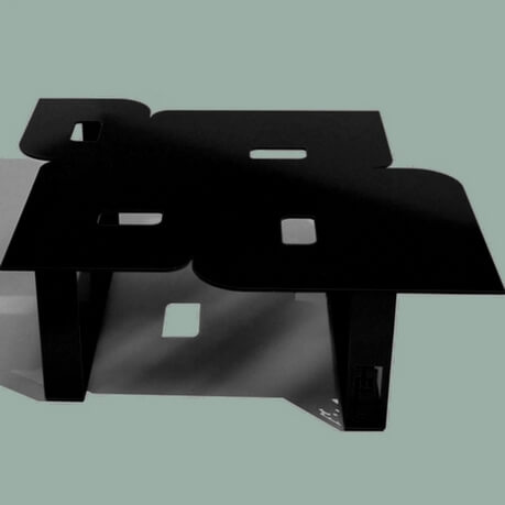 Modern coffee table so seventies black