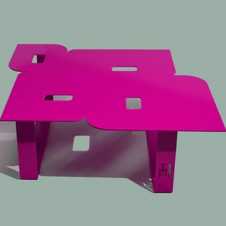Modern coffee table so seventies pink