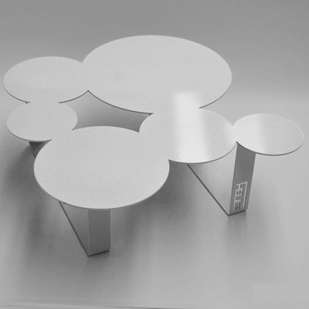 Design coffee table Inside white
