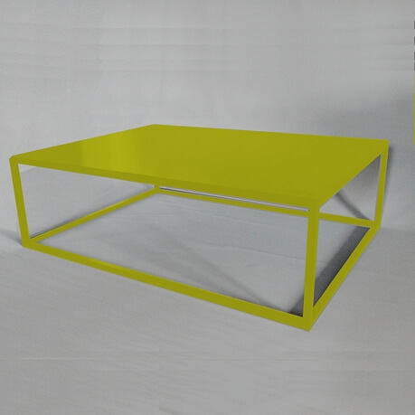 yellow design coffee table