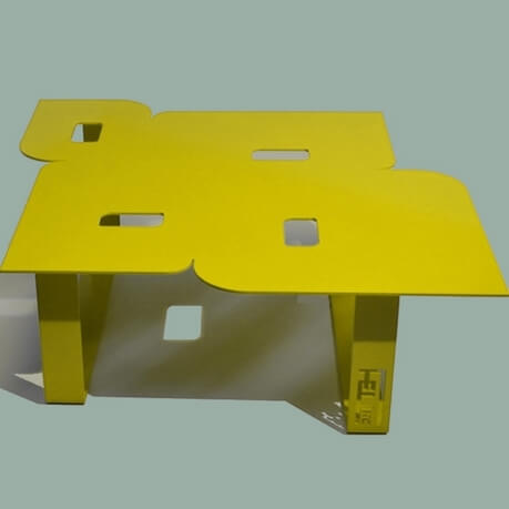 Modern coffee table so seventies yellow